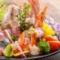 料理メニュー写真鮮魚のお造り盛り合わせ (4~5人前盛り合わせ)