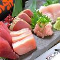 様々なまぐろ料理が楽しめます!刺身はもちろん、一品料理も充実♪ぜひお試しください!