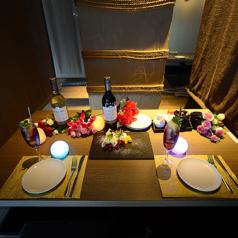 一部屋限定のカップルシート!全方向、パーティションで囲まれたお部屋はお二人を特別な空間へ誘います♪雰囲気もありお勧めです!!日時に応じてのご用意なので、お気楽にお問合せ下さい!