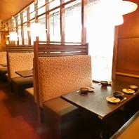 横浜駅徒歩1分、開放的な窓際のお席は女子会におすすめ