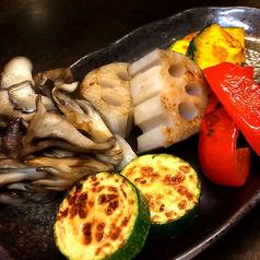 料理メニュー写真彩り野菜の鉄板焼