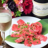 【お祝いに♪】バラ型お肉とミニシャンパンボトル