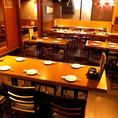 4~6名様用のテーブル席。レイアウト変更で人数に合わせてご利用できます!