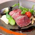 料理メニュー写真黒毛和牛イチボのロースト