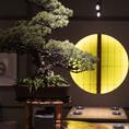 和の雰囲気溢れる店内は落ち着いて和食を楽しめる上質空間です。