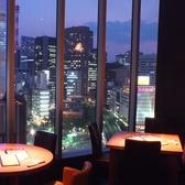 【夜景が見える席】10Fから銀座の素敵な景色が楽しめます。特に夜は夜景が綺麗。大切な人と過ごすのに最適な雰囲気です。夜景を見ながら、美味しい料理とお酒をお楽しめください。