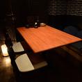 4名様でご利用いただけるテーブル席です。レイアウト変更で最大16名様までご利用いただけます。