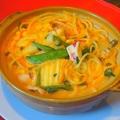 料理メニュー写真激辛ちゃんぽん風煮込みスパゲッティ