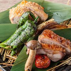 播州百日鶏と淡路鶏の藁焼き~2種食べ比べ~