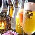 ビール、ハイボール、ワインなど、種類豊富なドリンク。サングリアも飲み放題できます!