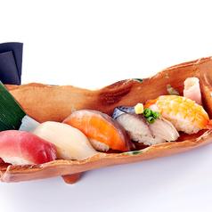 料理メニュー写真寿司五種盛り合せ (握り5貫)