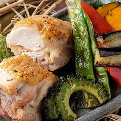 淡路鶏と地元野菜の鍬焼き