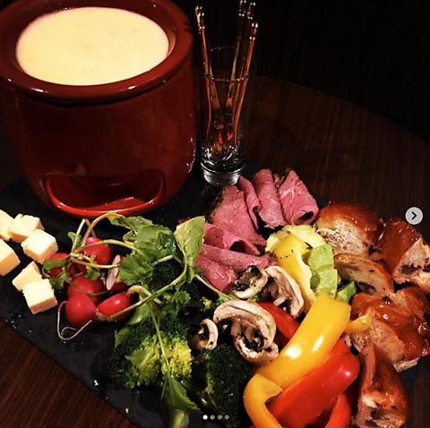 季節のチーズフォンデュコース(8品)4400円→3800円