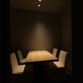 4名様用の個室席を2部屋ご用意しております。お子様連れのお客様にも安心してご利用頂けます。※個室料10%を頂戴しております。
