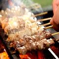 料理メニュー写真もも/鶏レバー/ハツ/砂肝/ぼんぢり/ささみ/つくね