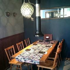 テーブル席。[2名~6名様]