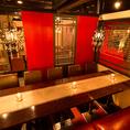 10名様以上の大人数での宴会・飲み会にオススメの団体様でご利用いただけるテーブル席です。