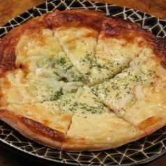 料理メニュー写真明太子のピザ