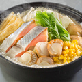 料理メニュー写真<北海道名物鍋>■石狩鍋