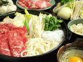 料理メニュー写真すき焼き特選牛コース