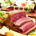 こだわりの厳選食材!国産牛ランプステーキや、ブランド豚・大和ポークのグリルなど、美味しいお肉がお楽しみいただけます。