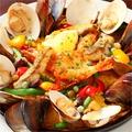 料理メニュー写真チーズパエリア/魚介のパエリア