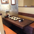 6名様まで座れるベンチシートタイプのテーブル♪