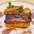 料理メニュー写真メイン2品(オードヴル、魚、肉)のコース