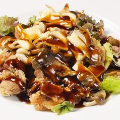 料理メニュー写真ハーブ鶏の唐揚げ たっぷりキノコ甘酢あんかけ