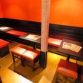 みんなでわいわいできるテーブル席は最大10名様迄!