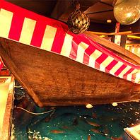 【店内は海と舟】