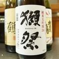 日本酒ファンも好きな獺祭。日本酒の品揃えも豊富にご用意しております。日本酒好きな方は是非ご来店ください。