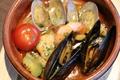 料理メニュー写真海老と貝のアヒージョ