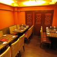 ≪半個室24名×1≫24名様程度までご利用いただける半個室席。会社飲みや同窓会などの大人数でも快適にお過ごしいただけます。