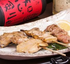料理メニュー写真国産鶏もも串 (たれ・塩)