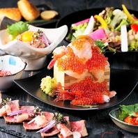 産地直送の新鮮な海鮮を使ったお造りや創作料理も人気♪