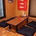 2階:4名様のお座敷席です。テーブルの移動・連結可能です。