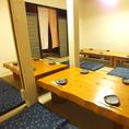 2階にある宴会個室。テーブルの組み合わせなども自由にできるので用途に合わせて配置可能。広々とした空間で一体感も抜群★