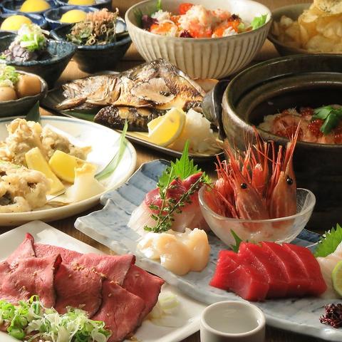 【9月〜】【2時間飲み放題付き5000円コース】塩ちゃんこ鍋と秋の味覚堪能コース全9品