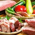 """""""けむり""""では、ホルモンだけではなく、赤身のお肉もこだわっています。"""