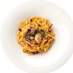 燻製牡蠣のペペロンチーノ