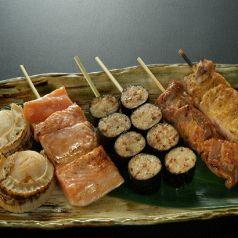 《オリジナル串》のり巻つくね・スタミナ焼・豚カルビのカレースパイス焼