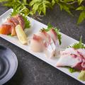 料理メニュー写真鮮魚のお刺身3種盛
