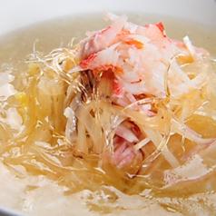 蟹肉入り卵白フカヒレスープ