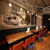 【片面ソファータイプのテーブル席】最大20名様も可能★細部までこだわった素敵空間でゆったりお食事できます♪