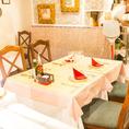 パーティー用半個室(7名~最大10名様)◆中人数のパーティー・ご宴会にオススメの当店ドマーニで唯一の半個室席です。