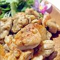 料理メニュー写真ジャークチキン(タイム・パプリカなどのスパイスソテー)<ジャマイカ>