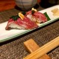 料理メニュー写真アンガス牛の炙り寿司