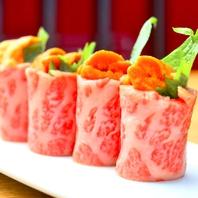 肉のプロ!老舗焼肉店厳選の牛肉と雲丹の黄金コンビ!