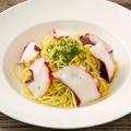料理メニュー写真真ダコと浜名湖産生海苔のペペロンチーノ ~黒胡椒風味~